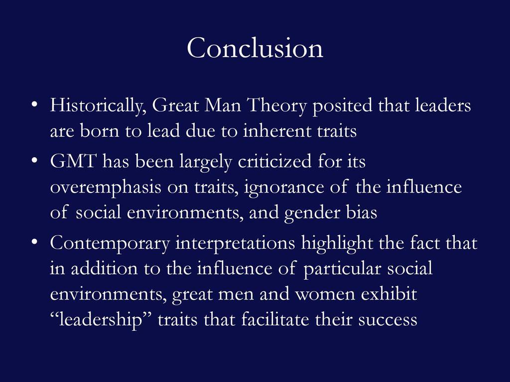 great man theory