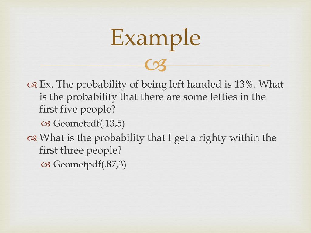 Ch 17 – Probability Models - ppt download