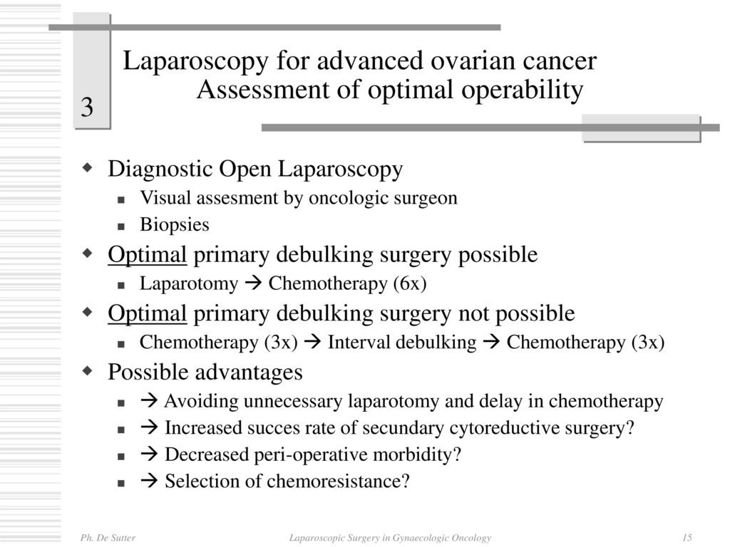 Laparoscopic Surgery In Gynaecologic Oncology An Added Value Ppt Download