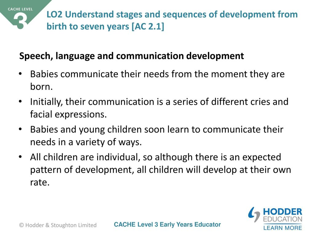 Stages of speech development of a child from 1 to 3 years