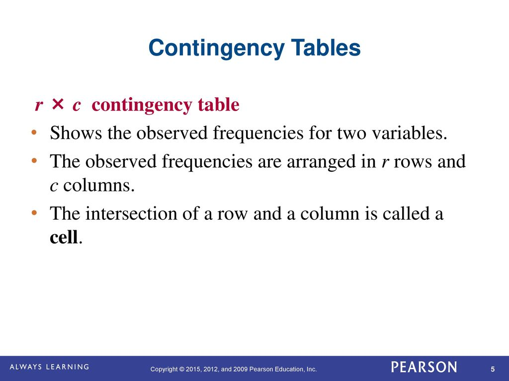 chi sqaure contigency table The chi-squared test (chisqtest() in r) compares the observed frequencies in each category of a contingency table with the expected frequencies (computed as the product of the marginal frequencies) it is used to determine whether the deviations between the observed and the expected counts are too large to be attributed to chance.