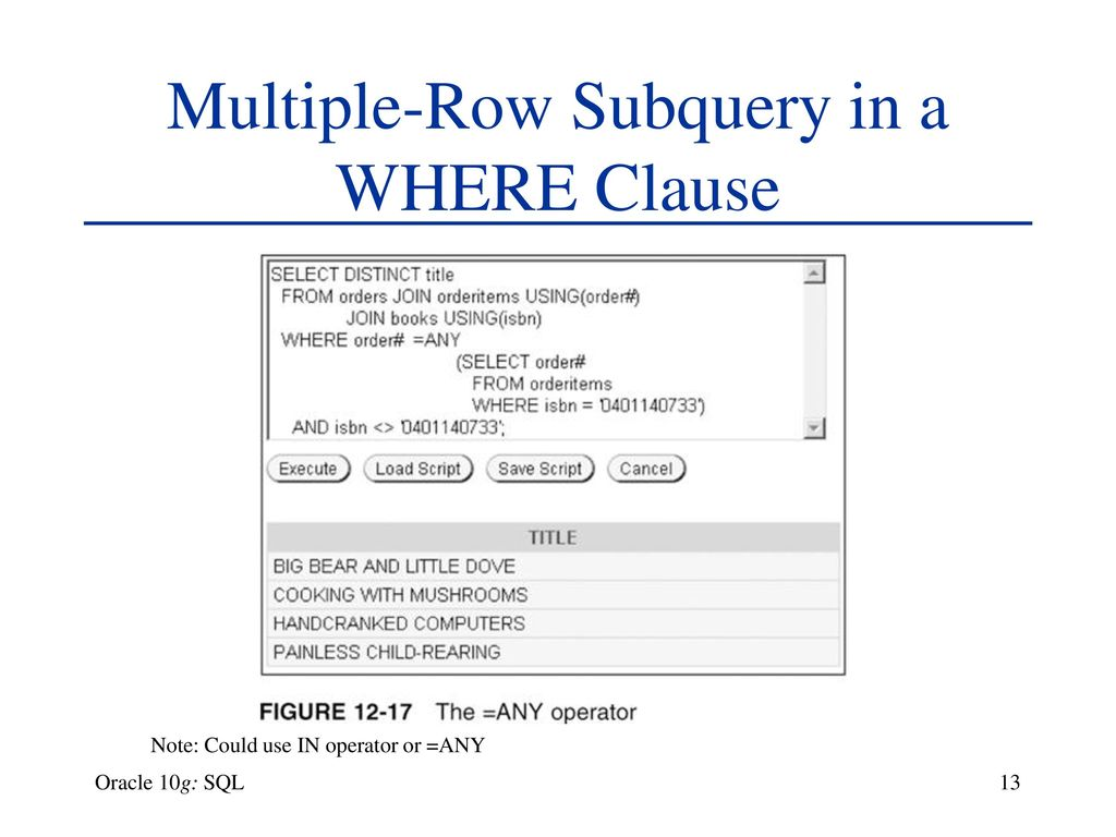 Chapter 12 Subqueries and MERGE Oracle 10g: SQL - ppt download