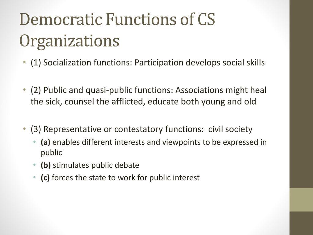 functions of civil society organizations