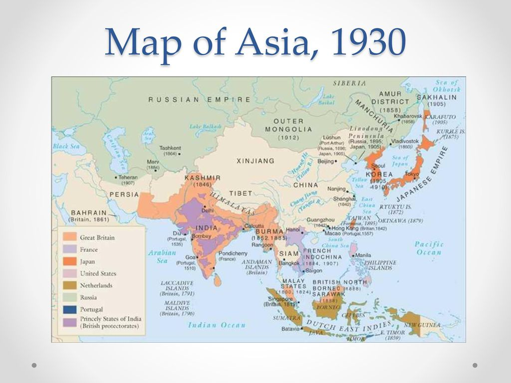 Map Of Asia 1930.World War Ii In Asia But Let S First Think Of All The Reasons We