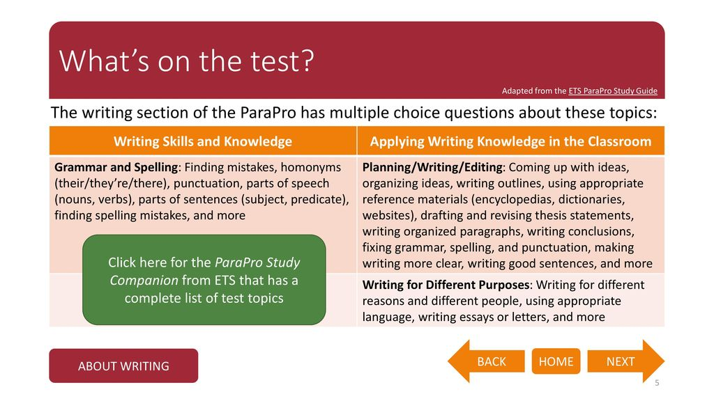 parapro test preparation study guide - ppt download