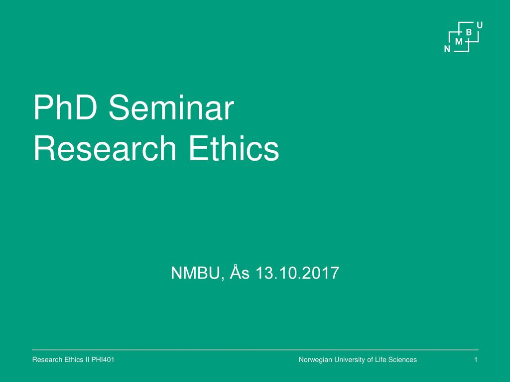 research ethics in the life sciences