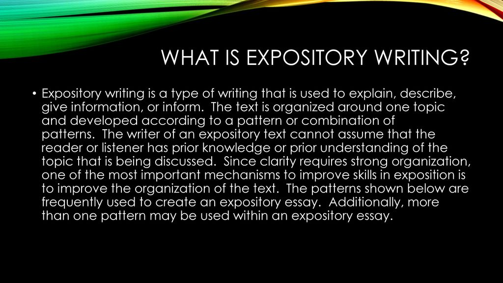 What is Expository Writing? Examples Patterns of Expository ...