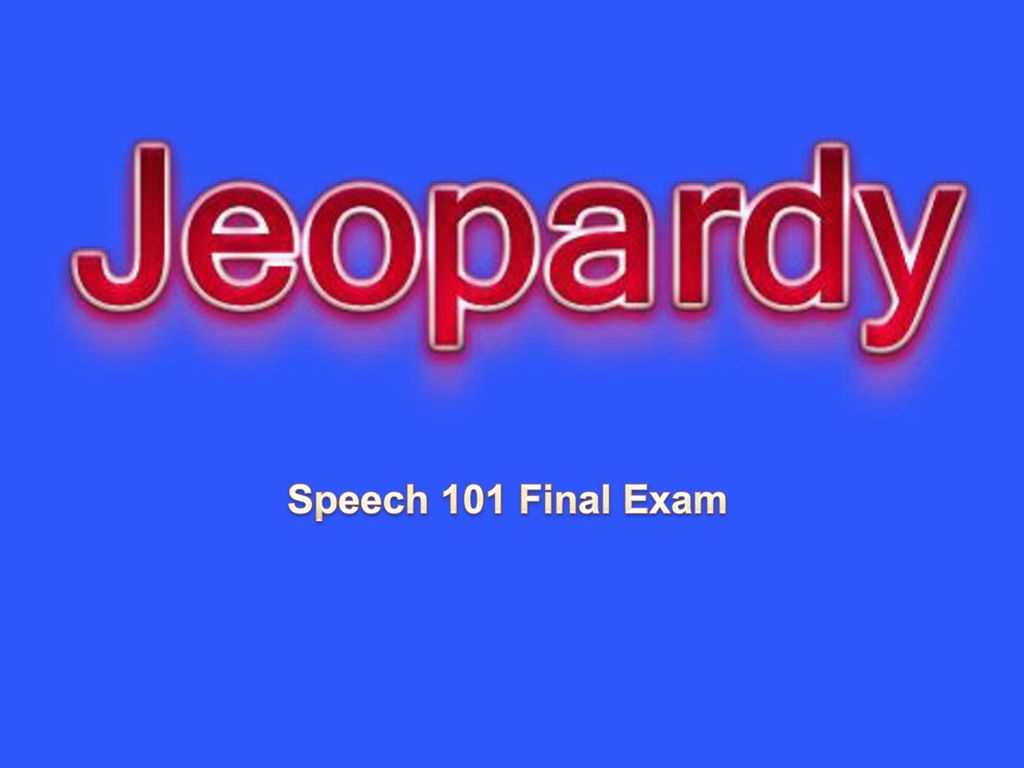 speech final exam