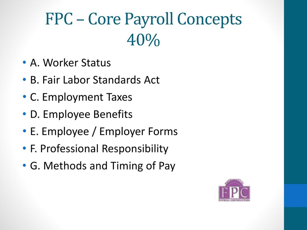 California Payroll Conference Cpp And Fpc Exams Ppt Download