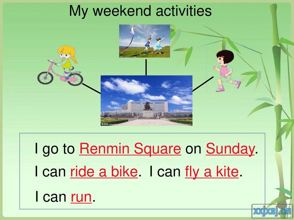 my weekend activities