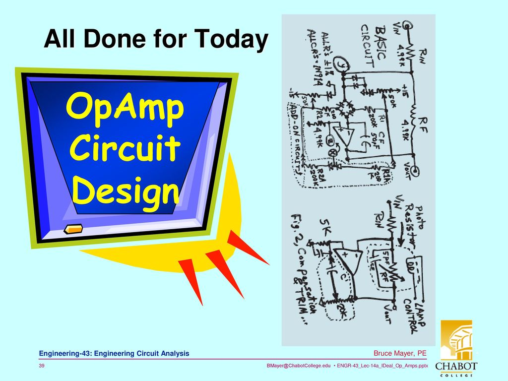 Licensed Electrical Mechanical Engineer Ppt Download Circuits Basics 39 Opamp Circuit Design All Done For Today