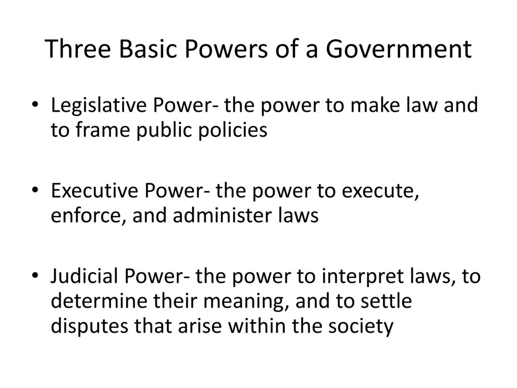Introduction into Law and Government - ppt download