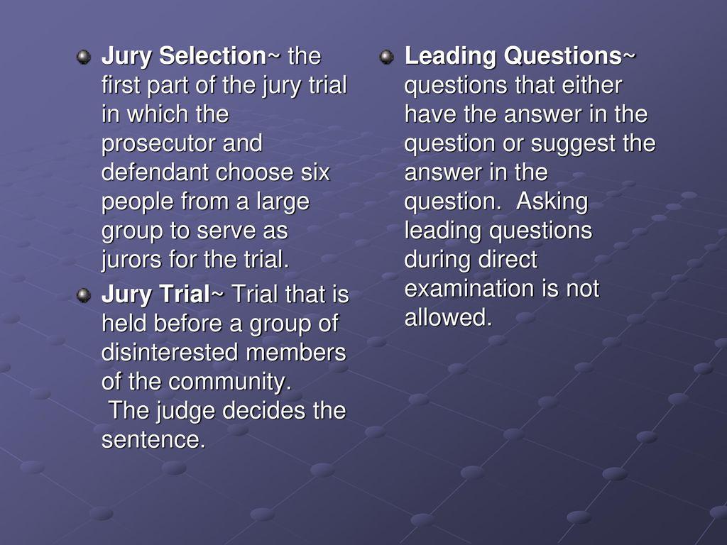 "A-B-C's"" of what you need to know for your mock trials"