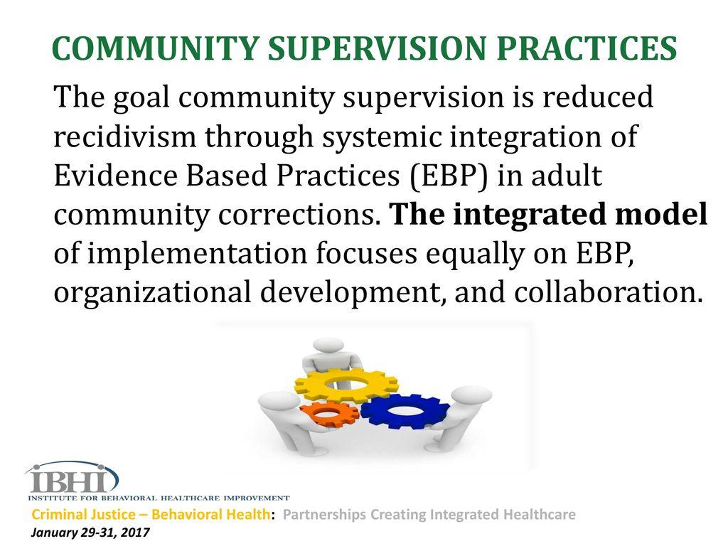 goals of community based corrections