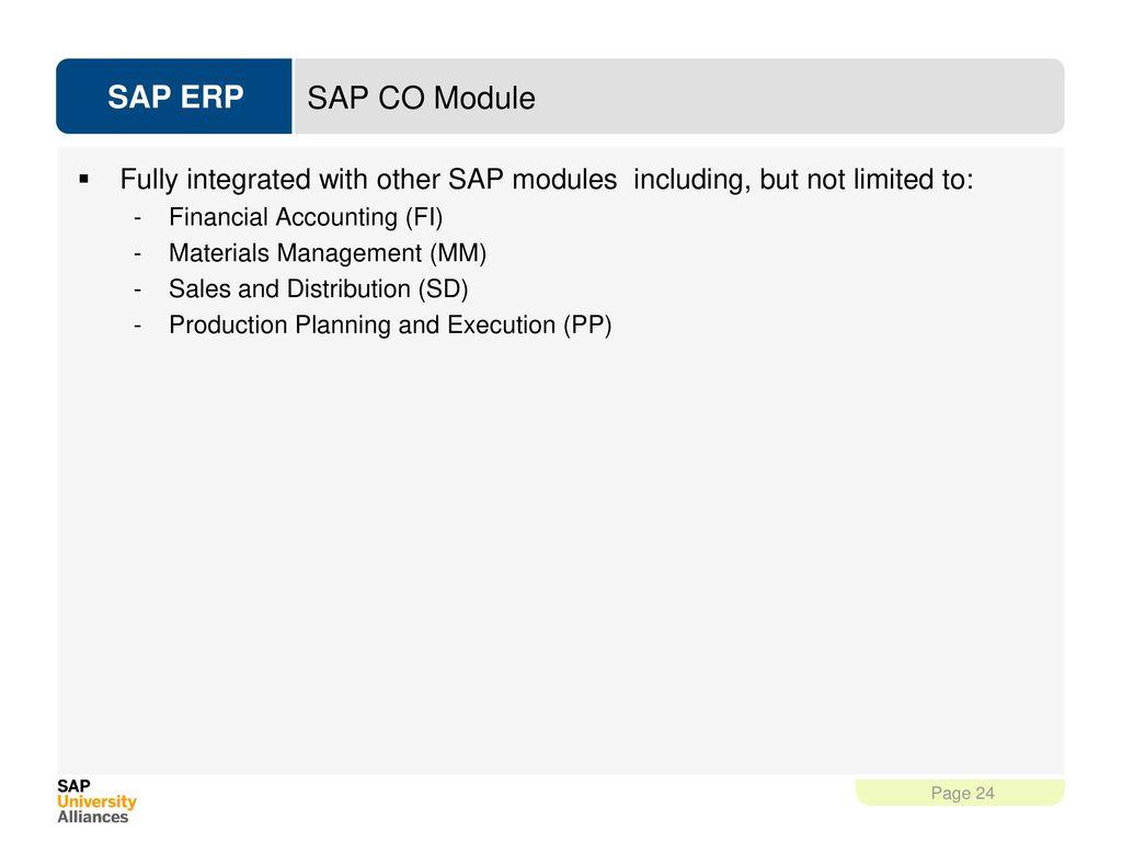 24 SAP CO Module ...