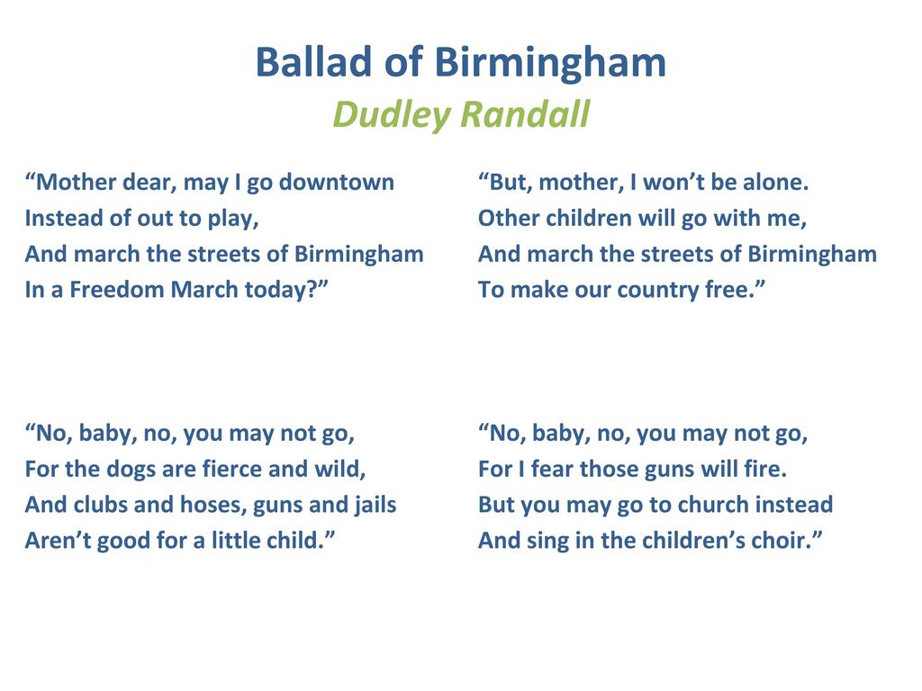 ballad of birmingham dudley randall analysis