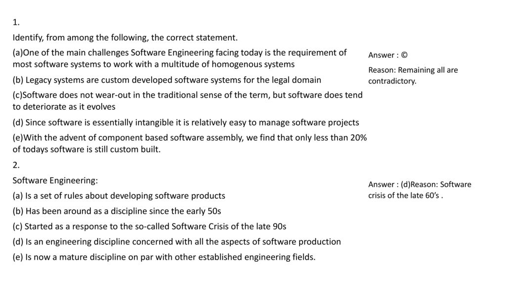 Software Engineering Mcq Questions And Answers Ppt Download