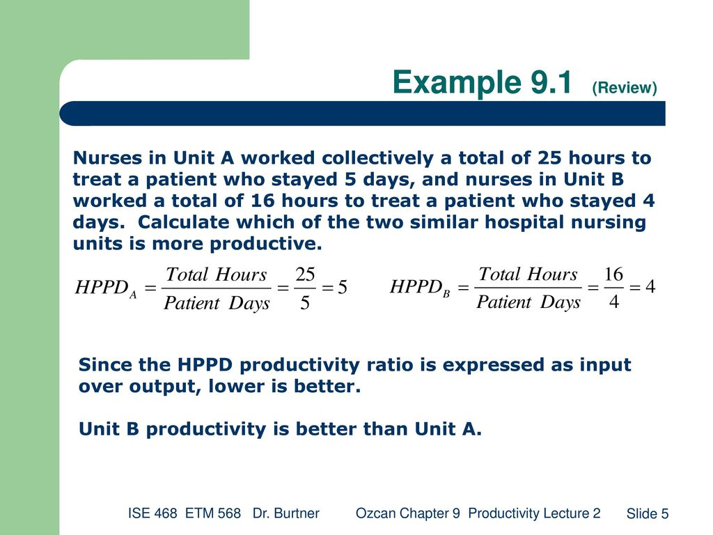 Ozcan: Chapter 9 Productivity Lecture 2 - ppt download
