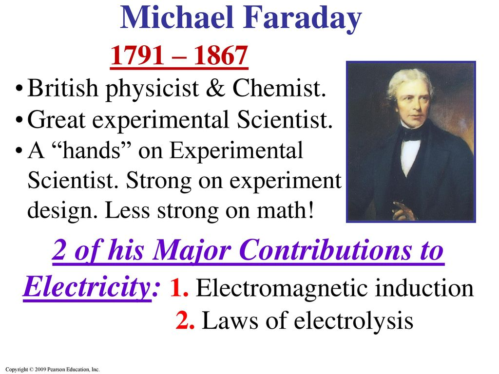 Faraday experiments. Electromagnetic induction. Michael Faraday 62
