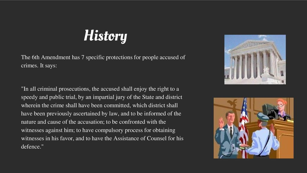 history behind the 6th amendment