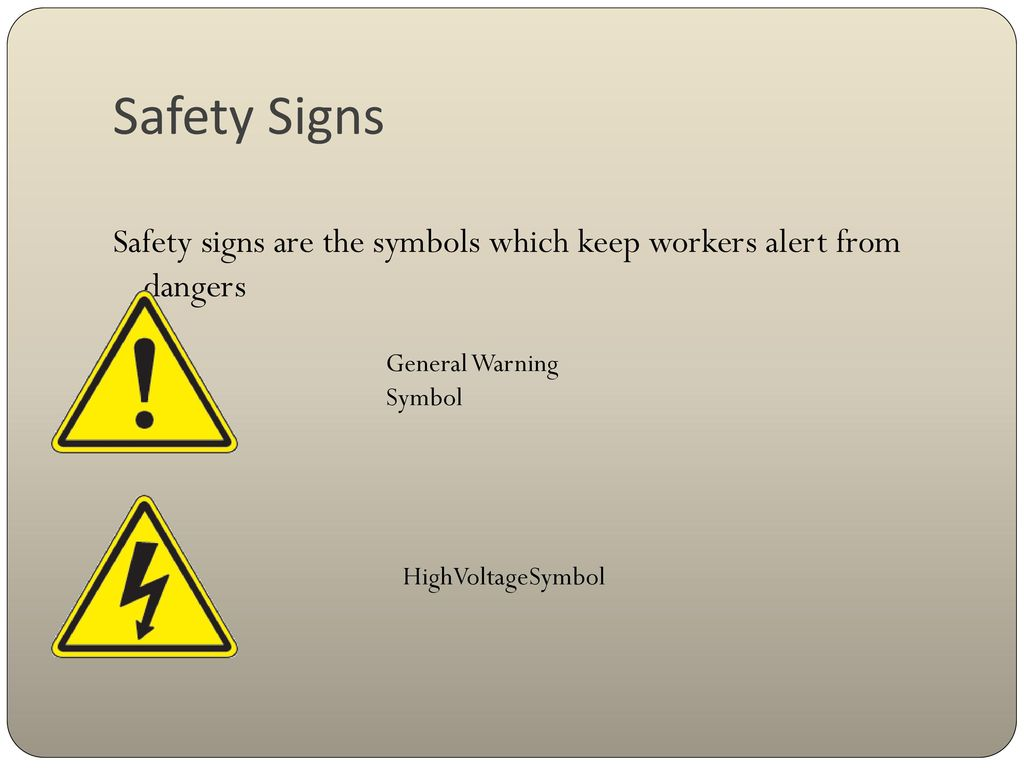 general safety signs and symbols