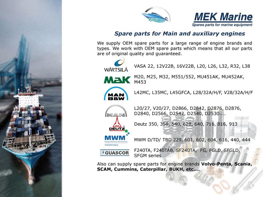 Spares Parts For Marine Equipment Ppt Download 3204 Cat Engine Diagram 3 Mek Caterpillar