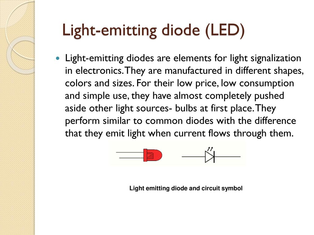 Light Emitting Diode Circuit Symbol Interesting With Electrical Circuits Beautiful