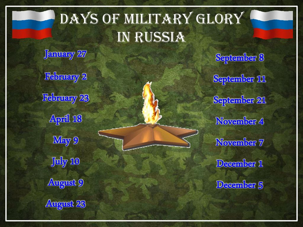 Days of military glory of Russia in 2019 33