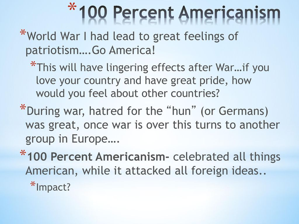 100 Americanism social issues & american response - ppt download