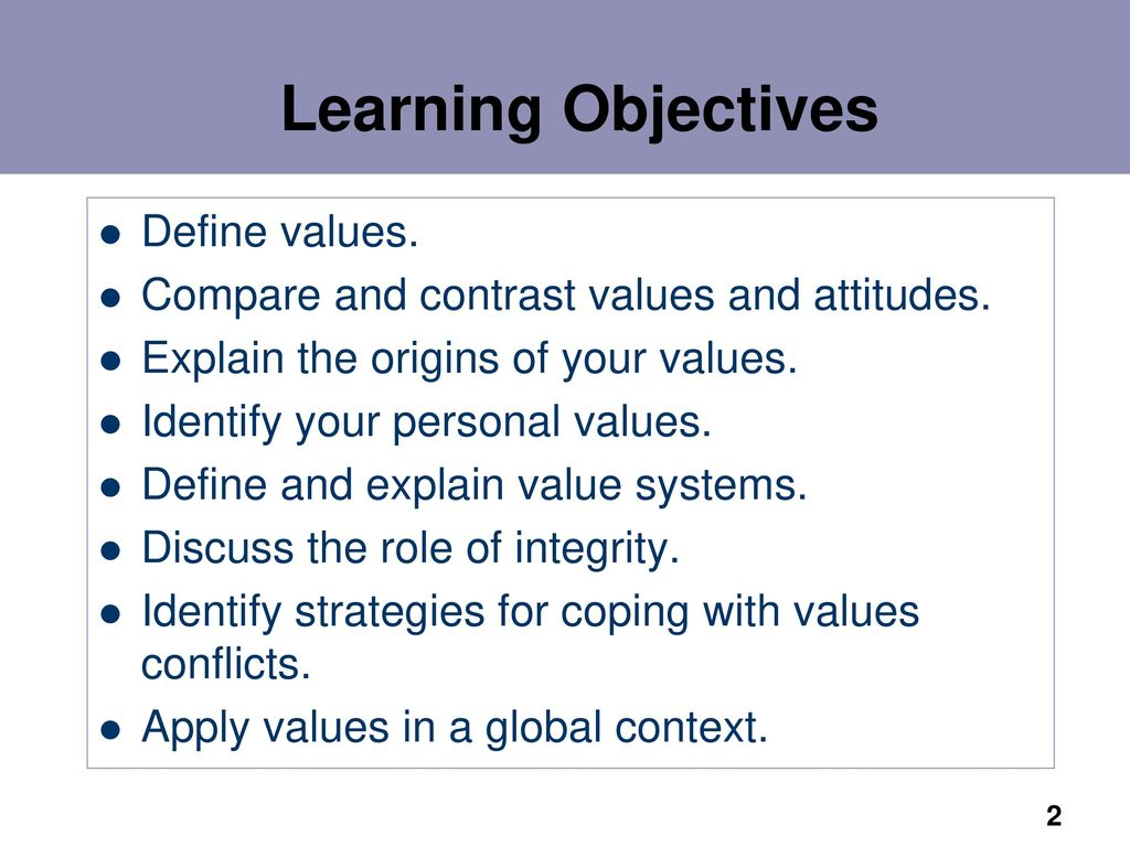 organizational values presentation