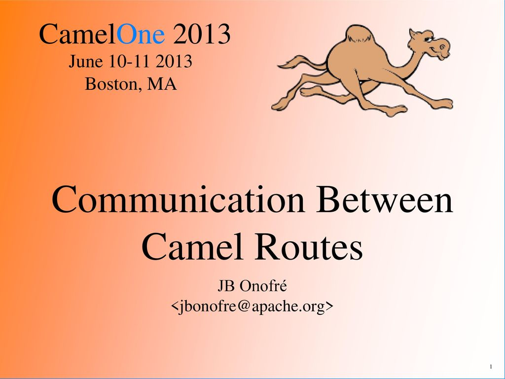 Communication Between Camel Routes - ppt download