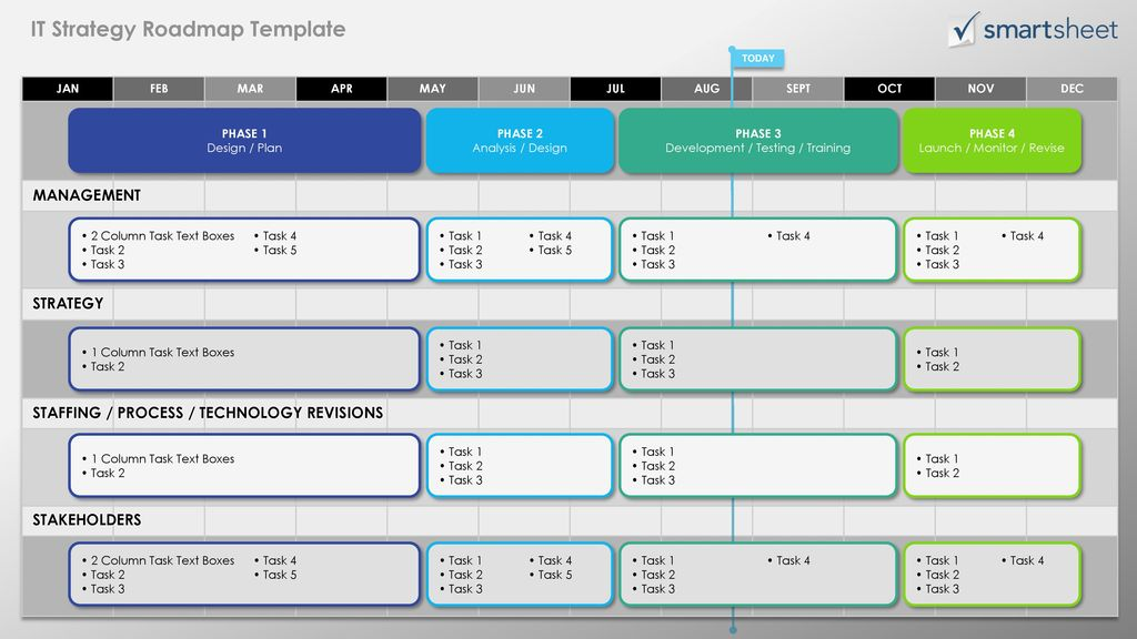 it strategy roadmap template ppt download
