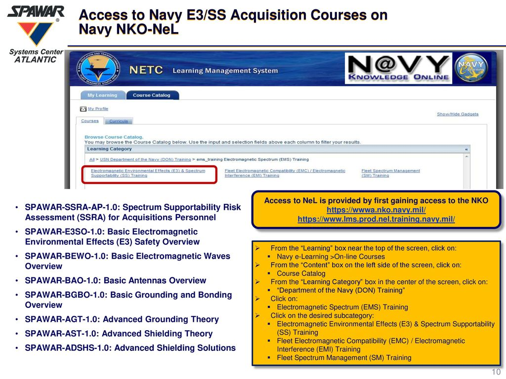 Navy Electromagnetic Environmental Effects E3 Spectrum Electricity Basic Training Courses Access To Ss Acquisition On Nko Nel