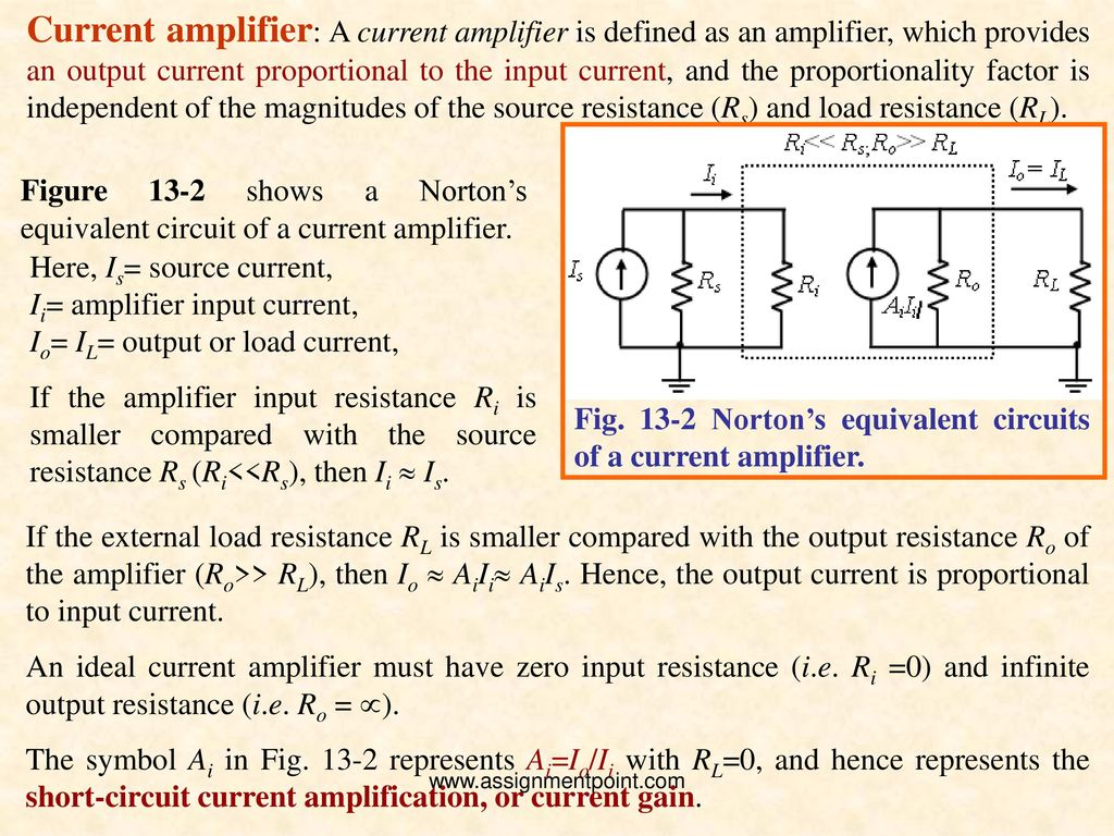 Lecture On Feedback Amplifiers Ppt Download To Be Current Amplified By The Following Amplifier Circuit 4