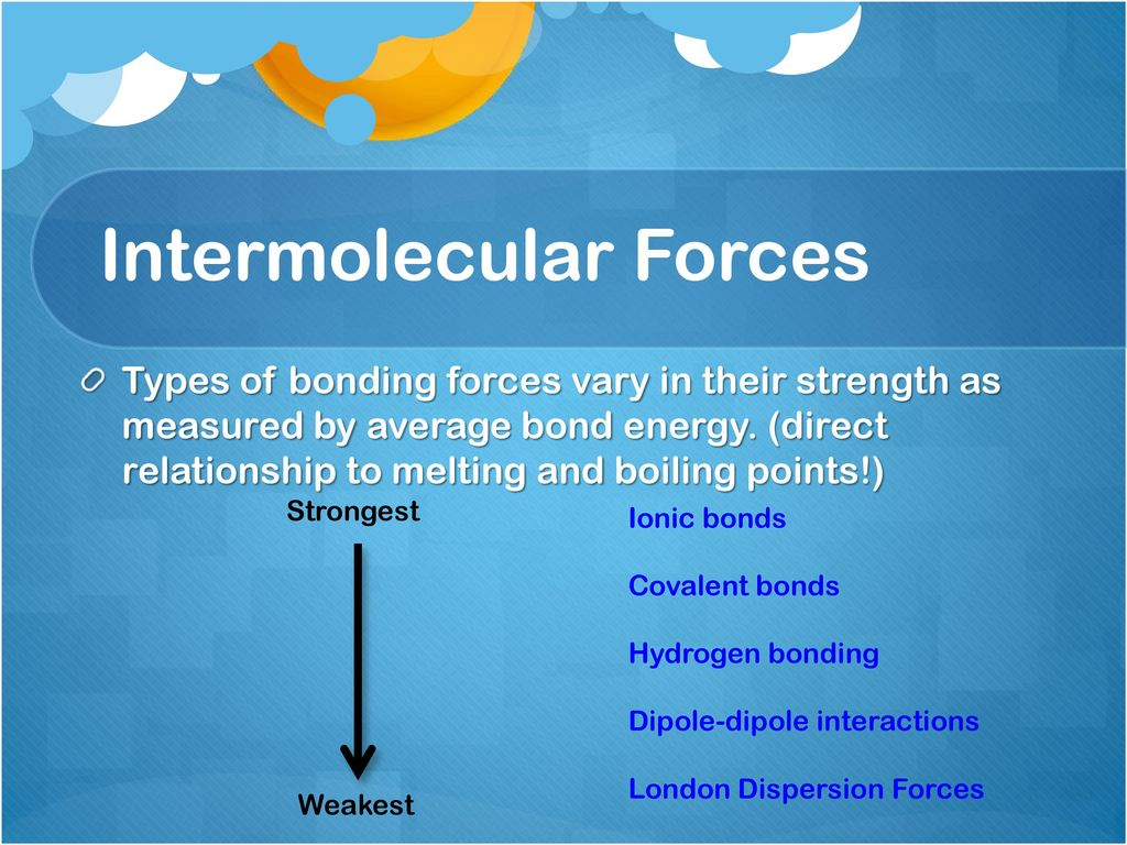 intermolecular forces and strengths pogil answers