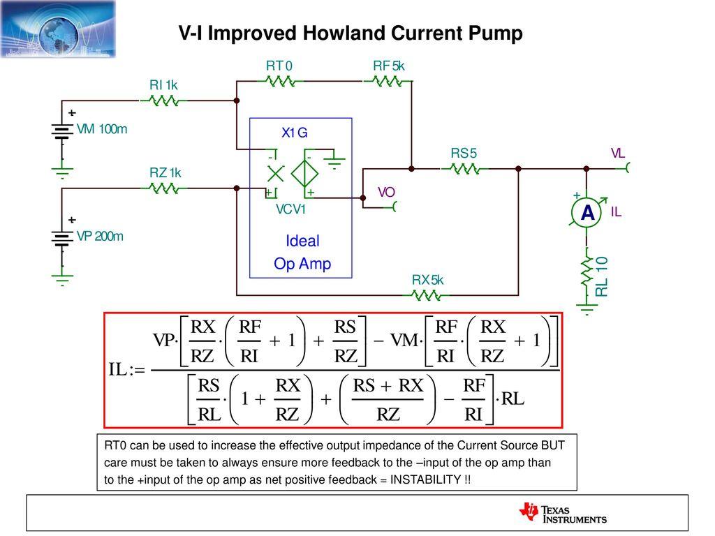 The Improved Howland Current Pump Ppt Download Singlesupply Instrumentation Amplifier 3 V I