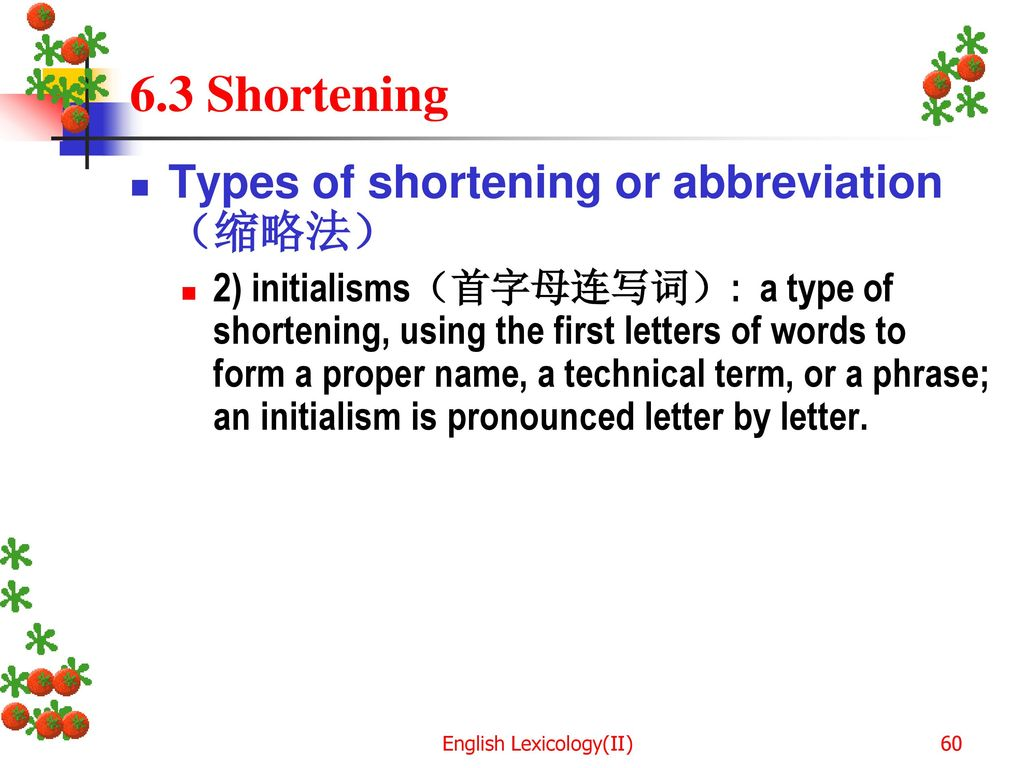 English Lexicology Ii Ppt Download