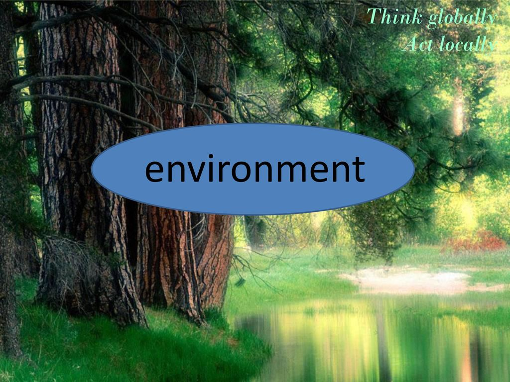 think globally act locally environment