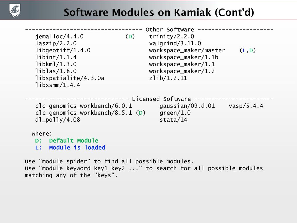 Welcome to Kamiak 10/2/2017 Training Session - ppt download