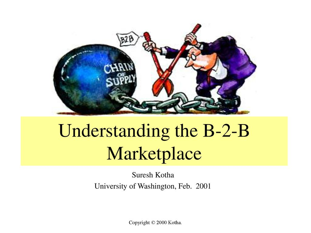 Understanding the B-2-B Marketplace - ppt download