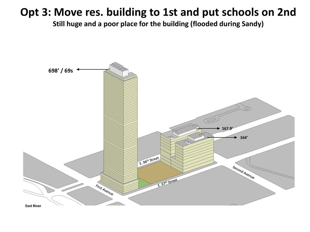 Opt 3 Move Res Building To 1st And Put Schools On 2nd