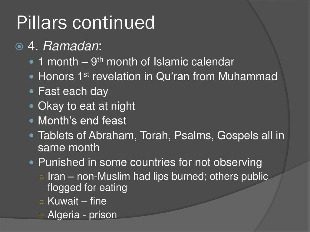 Ramadan 1 Month 9th Of Islamic Calendar
