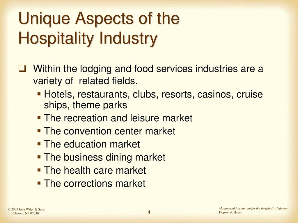 Hospitality Industry Accounting Ppt Download