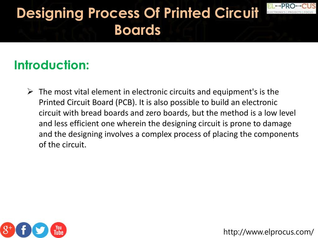 Designing Process Of Printed Circuit Boards Ppt Download Electronic With Pcb Layout