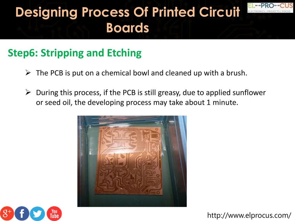 Designing Process Of Printed Circuit Boards Ppt Download In Minutes Pc Etching Prototyping