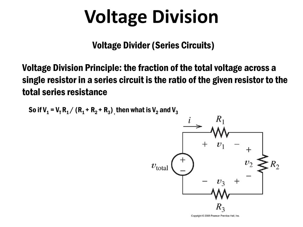 Power And Energy Consider The Product Of Voltage Current V I Series Circuit With 3 Resistors Division Section 23 Divider Circuits