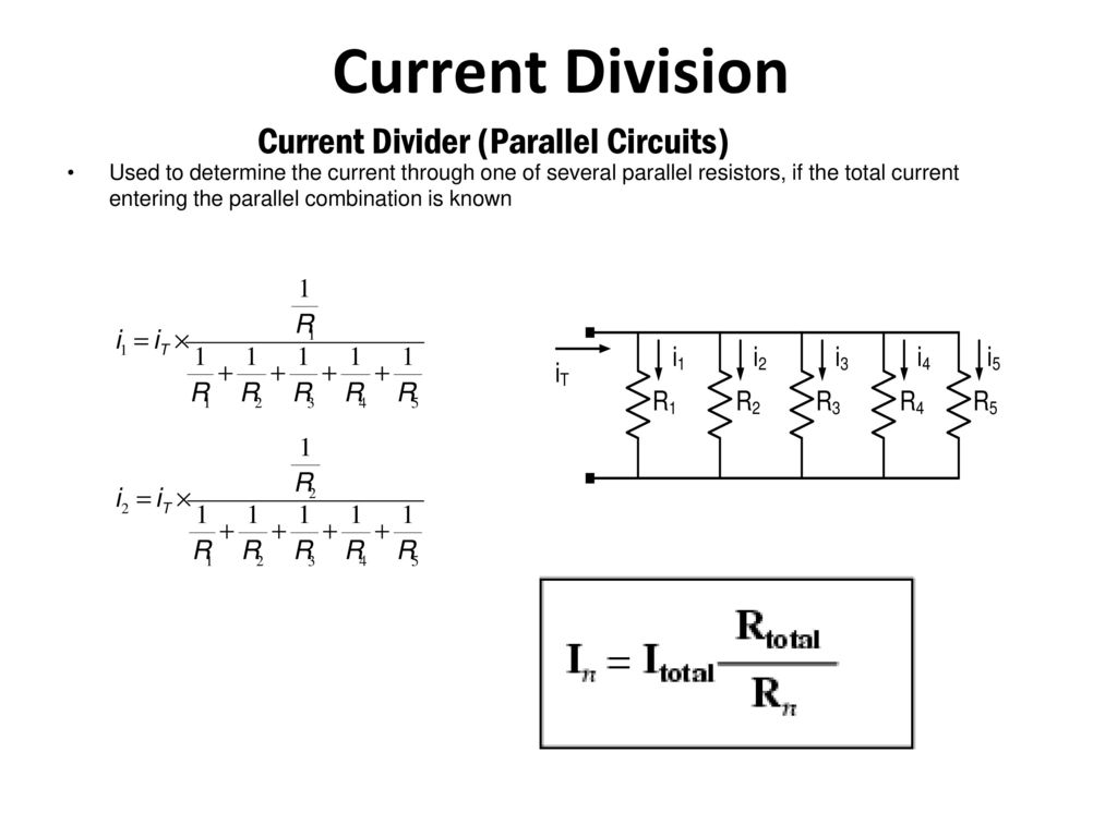 Power And Energy Consider The Product Of Voltage Current V I Divider Circuits Division Parallel