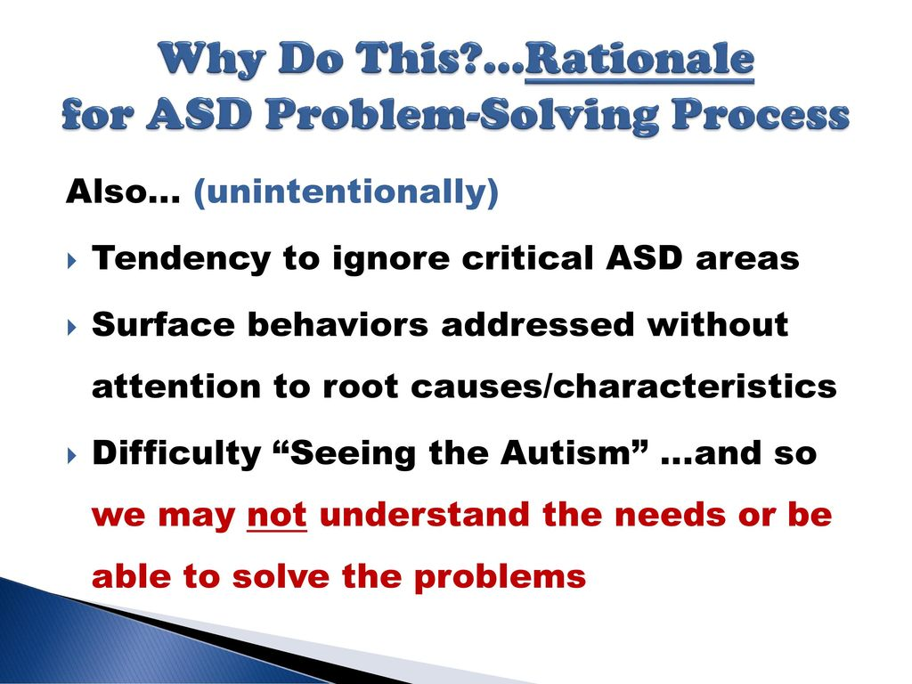 Problems With Attention Not Autism >> Asd Problem Solving Process Ppt Download