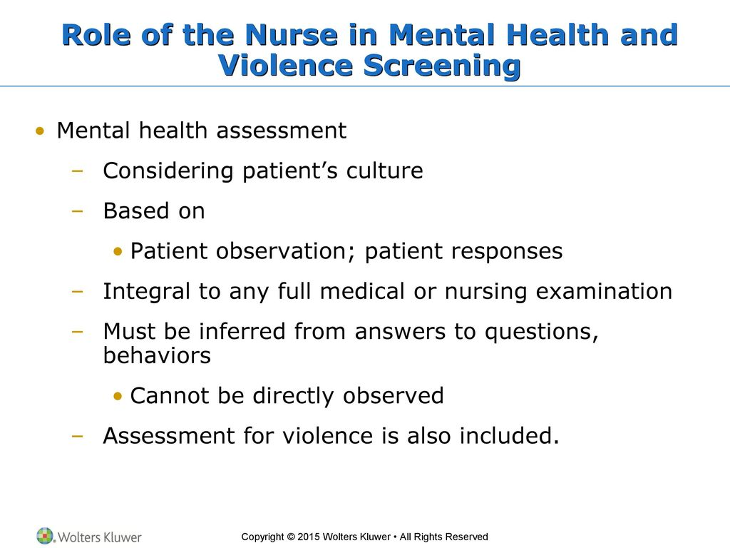 Chapter 9 Mental Health And Violence Assessment Ppt Download