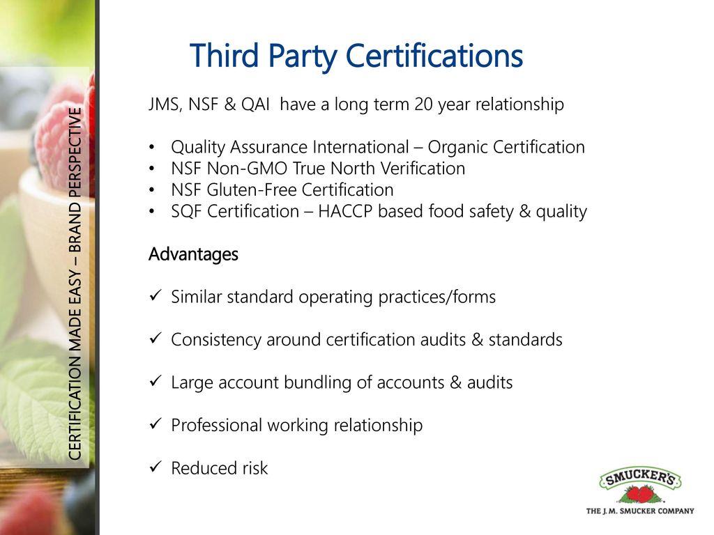 Certification Made Easy Organic Non Gmo Gluten Free And More
